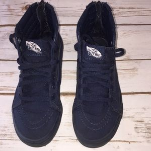 0867d7c1cd1e1b Vans Shoes - Little Boy Sk8-Hi Zip Mono Boys Navy Blue Vans